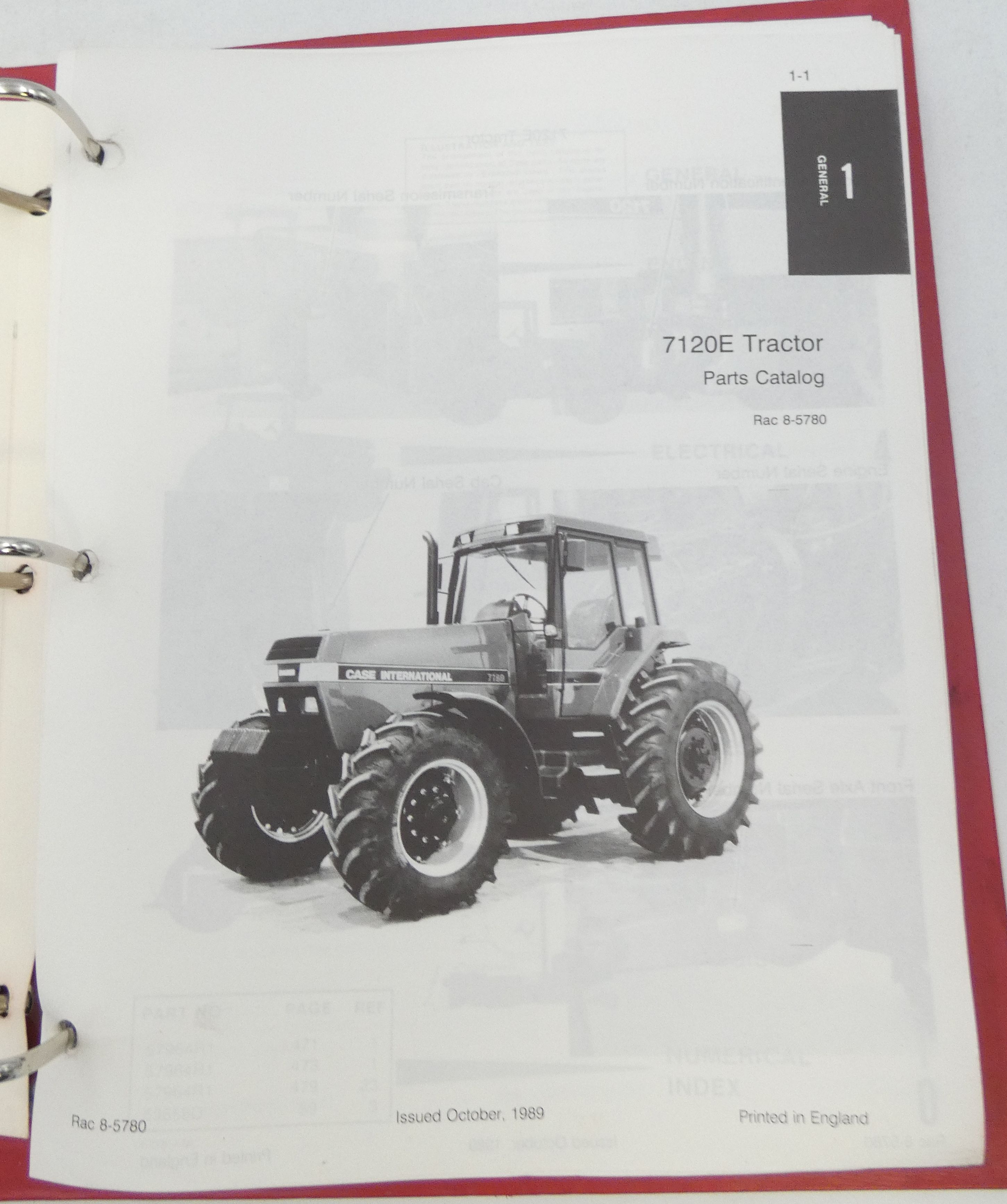 Case International 7120E tractor parts catalog