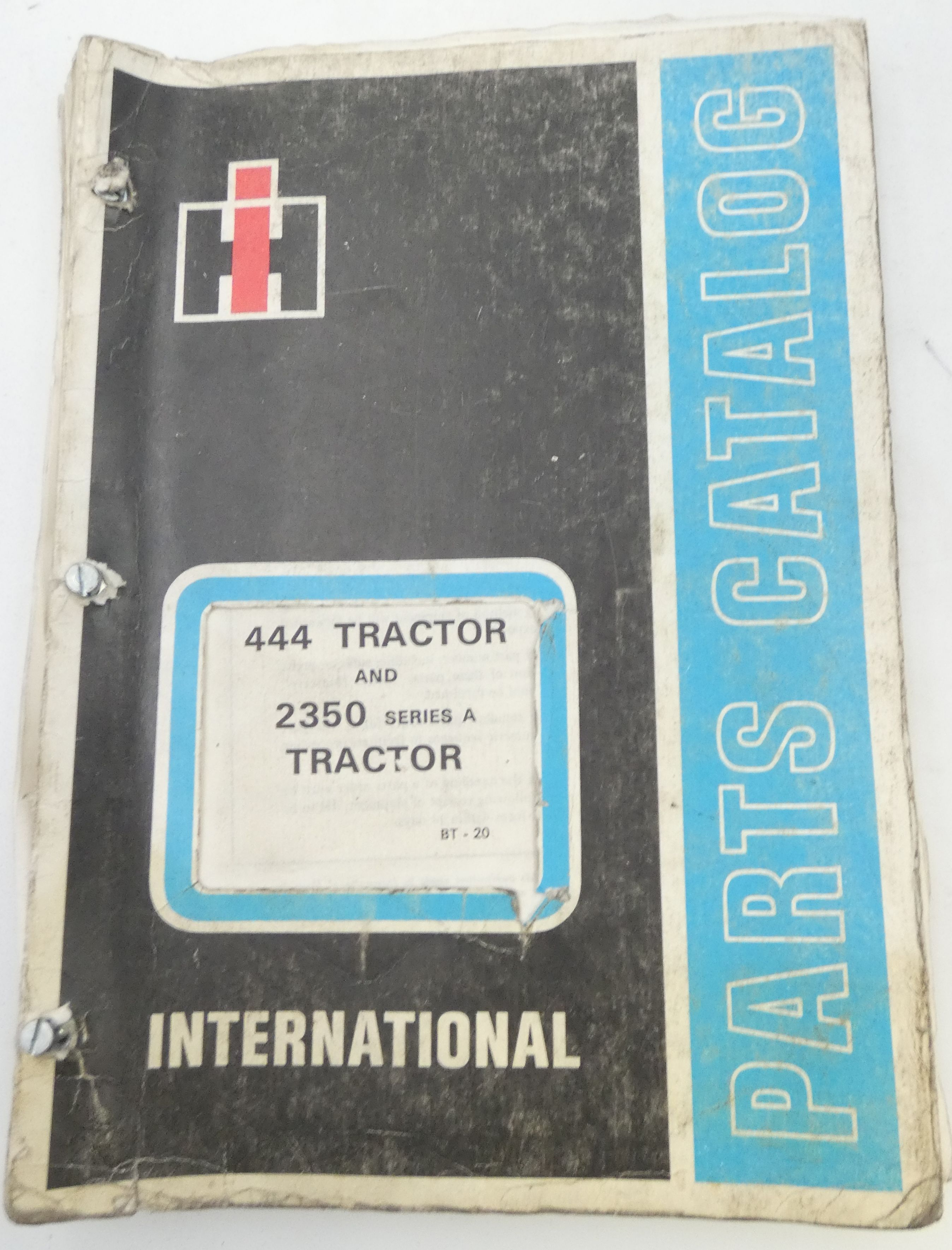 International 444 tractor and 2350 series A tractor parts catalog