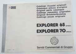 Same Explorer 65 Special and 70 Special original parts catalogue