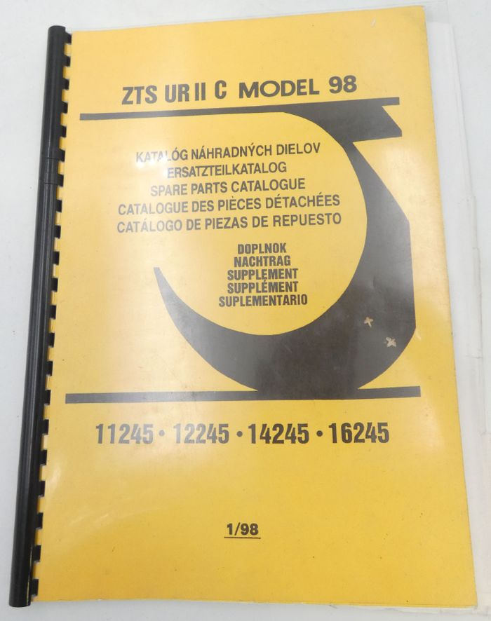 ZTS UR II C Model 98 models 11245, 12245, 14245, 16245 parts catalogue supplement