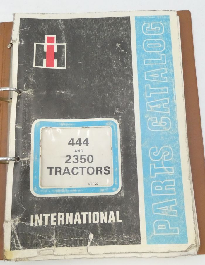 International 444 and 2350 tractors parts catalog