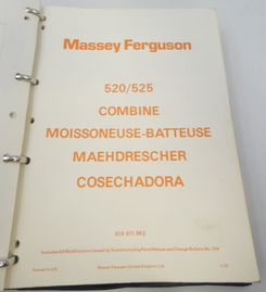 Massey Ferguson 520/525 combine parts list