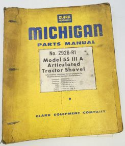Michigan model 55 III A parts manual