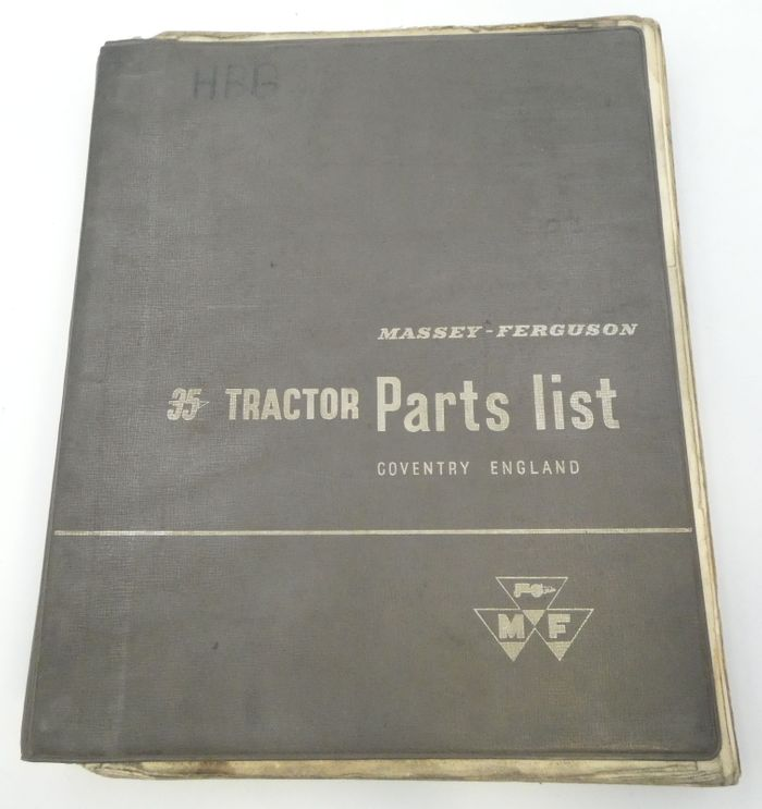 Massey-Ferguson 35 tractor parts list