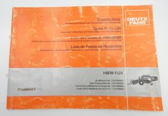 Deutz-Fahr HMW-1124 spare parts list