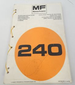 Massey Ferguson MF240 combine parts book