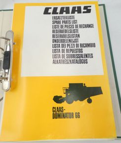 Claas Dominator 66 spare parts list
