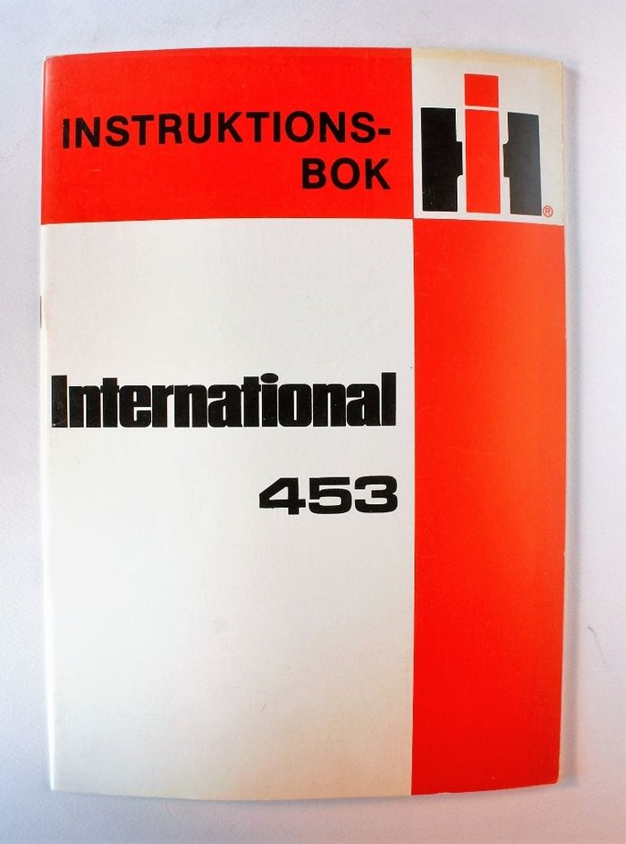 International 453 Instruktionsbok