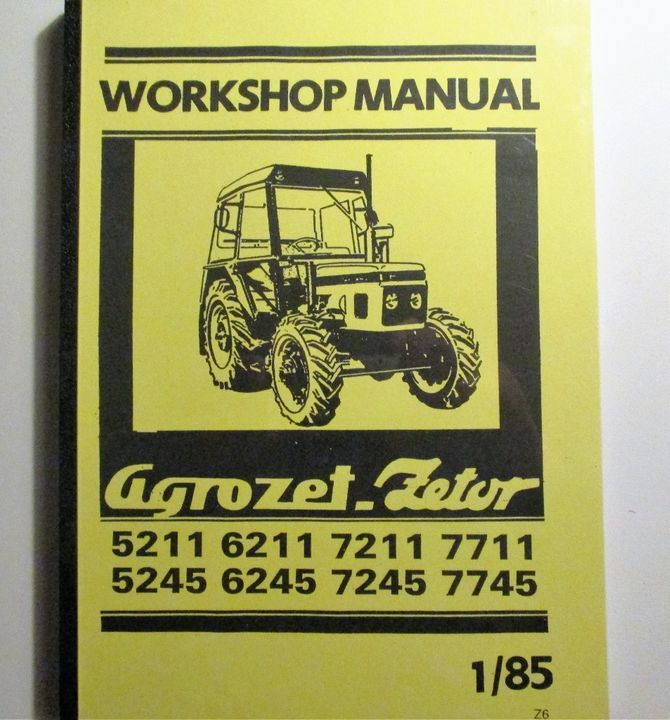 Zetor 5211, 5245, 6211, 6245, 7211, 7745, 7711, 7745 Workshop Manual - Korjausopas
