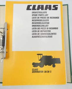 Claas Dominator 38/38S spare parts list