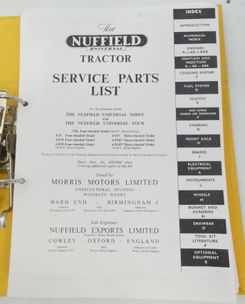 The Nuffield Universal three and four tractor service parts list