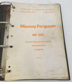 Massey Ferguson MF307 combine parts book