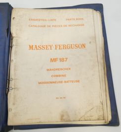 Mssey-Ferguson MF187 combine parts book