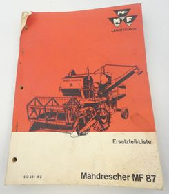 Massey Ferguson MF87 spare parts list