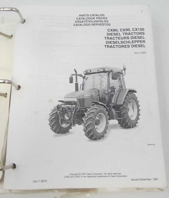 CaseIH CX80, CX90, CX100 diesel tractors parts catalogue