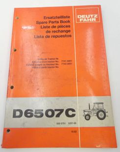 Deutz-Fahr D6507C spare parts book