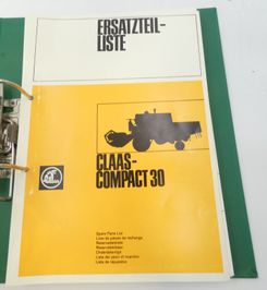 Claas compact 30 spare parts list