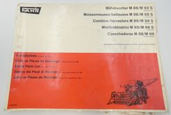 Fahr M88, M88S combine harvesters spare parts list