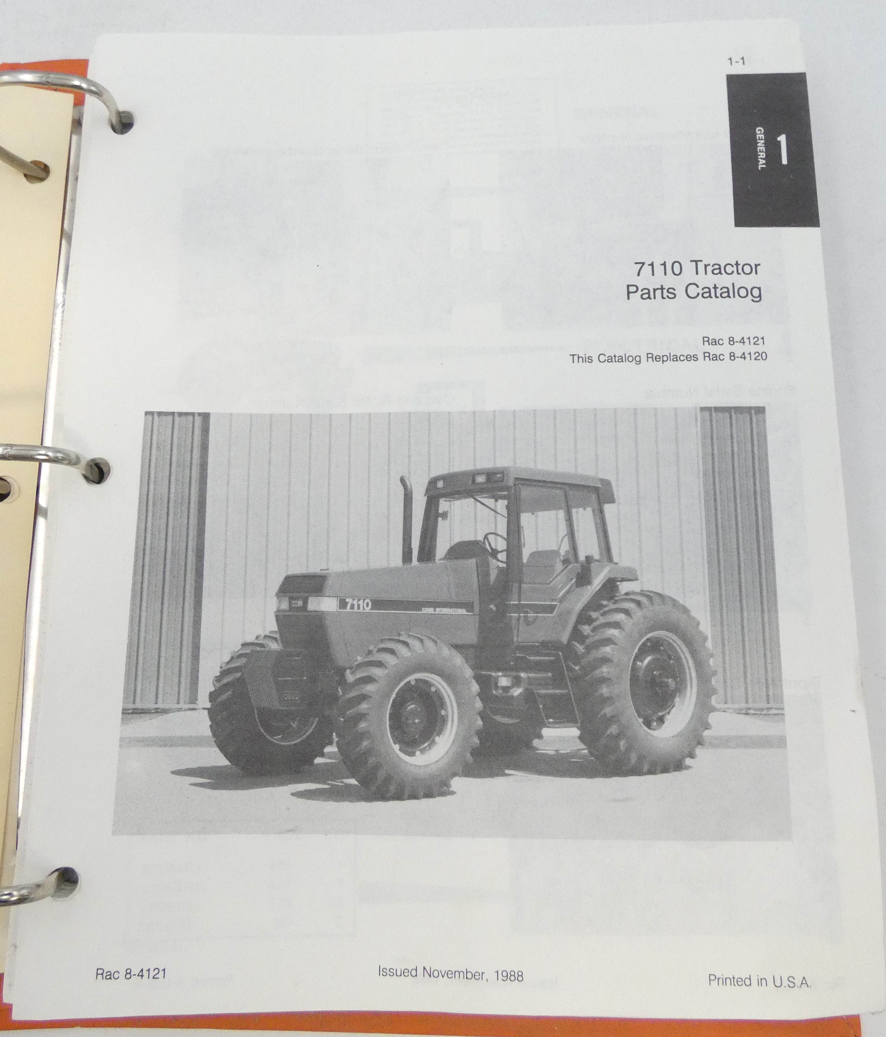 Case International 7110 tractor parts catalog