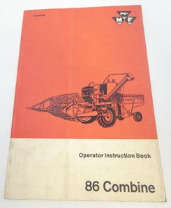 Massey-Ferguson 86 Combine operator instruction book