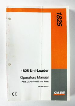 CaseIH 1825 Uni-Loader Operators Manual