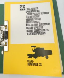 Claas Dominator 38 spare parts list