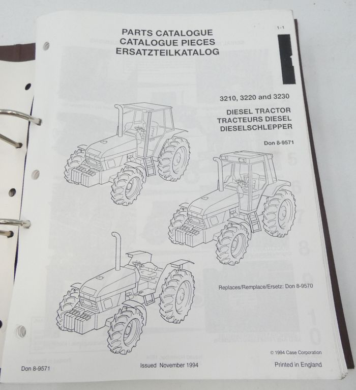 CaseIH 3210, 3220 & 3230 diesel tractors parts catalogue