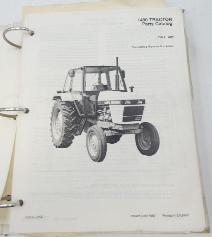 David Brown 1490 tractor parts catalog