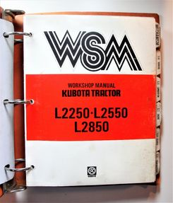 Kubota L2250 L2550 L2850 Workshop Manual