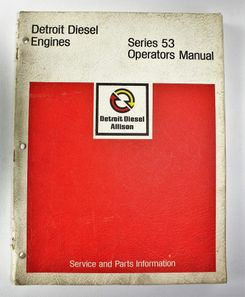 Detroit Diesel Series 53 Operators Manual