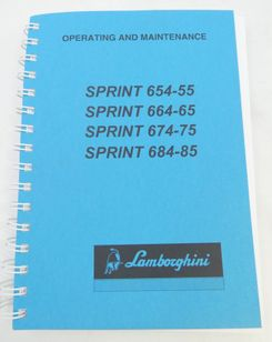 Lamborghini Sprint 654-55, 664-65, 674-75, 684-85 operating and maintenance