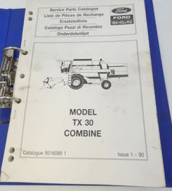 Ford New Holland Model TX30 combine service parts catalogue