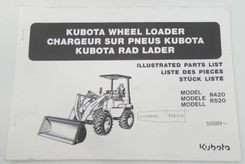 Kubota wheel loader models R420, R520 illustrated parts list