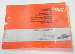 Deutz-Fahr M900, M922, M1002 combine harvesters spare parts list