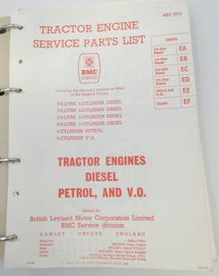 Leyland BMC tractor engines diesel petrol and V.O. service parts list
