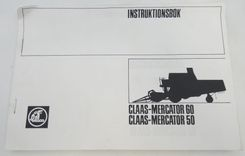Claas-Mercator 60/50 instruktionsbok + lubrication chart.