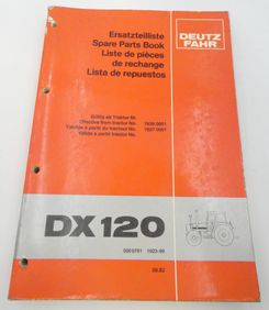 Deutz-Fahr DX120 spare parts book