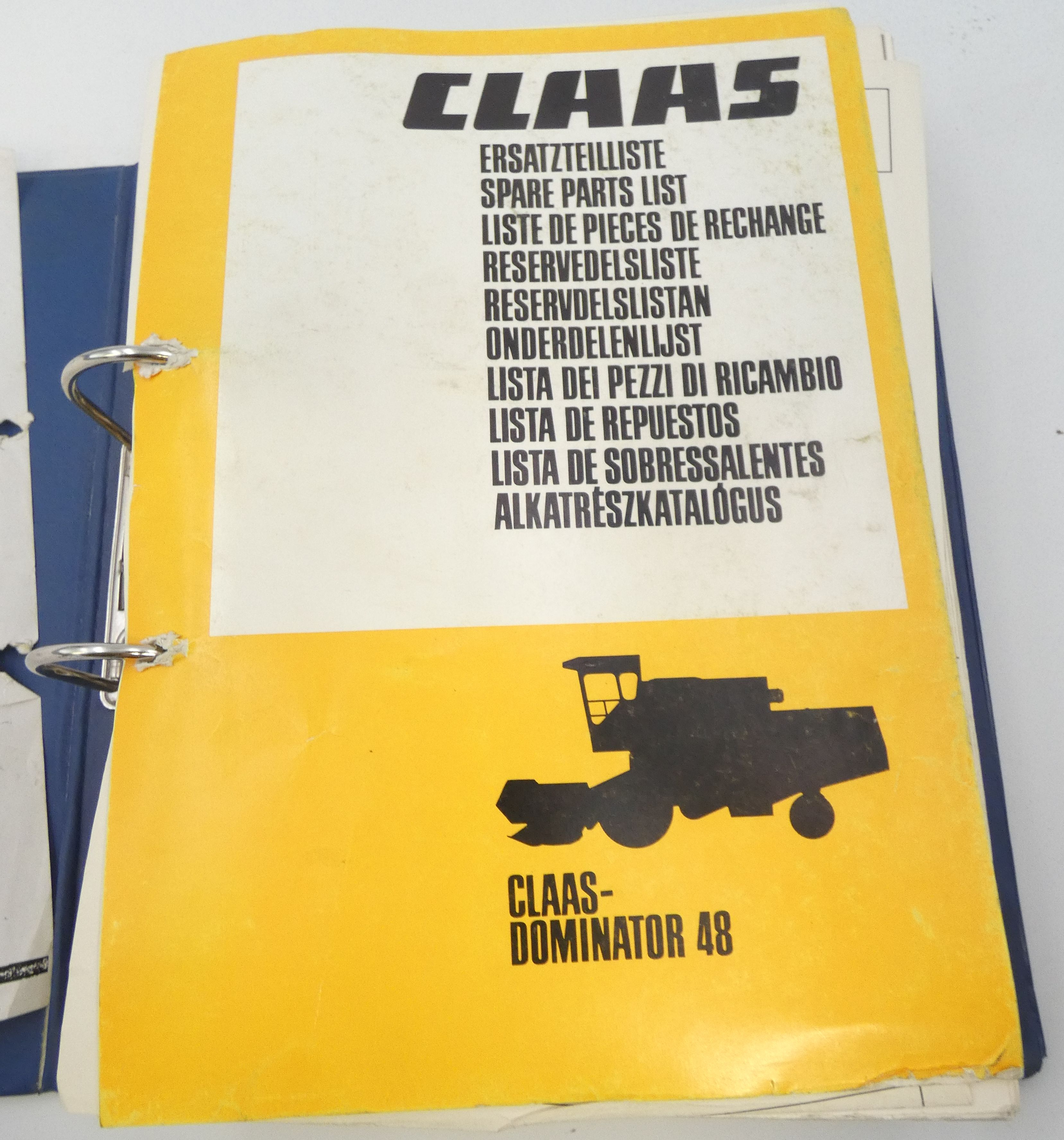 Claas Dominator 48 spare parts list