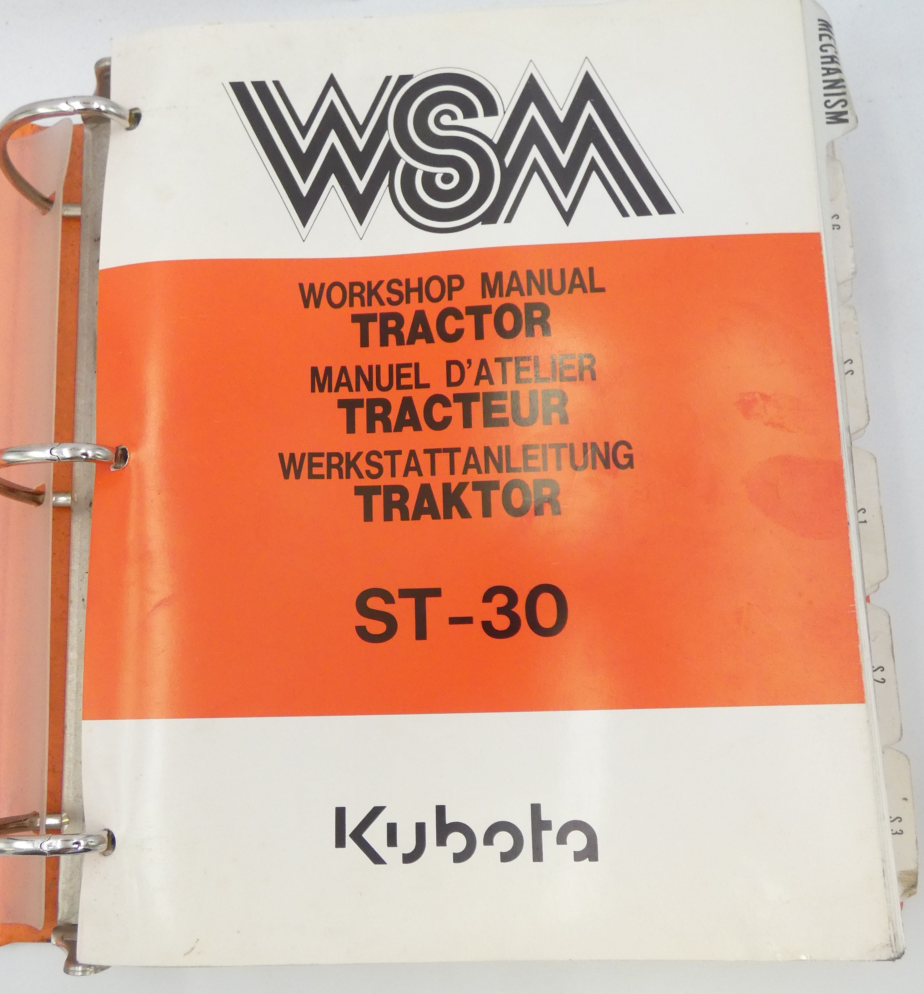 Kubota ST30 tractor workshop manual
