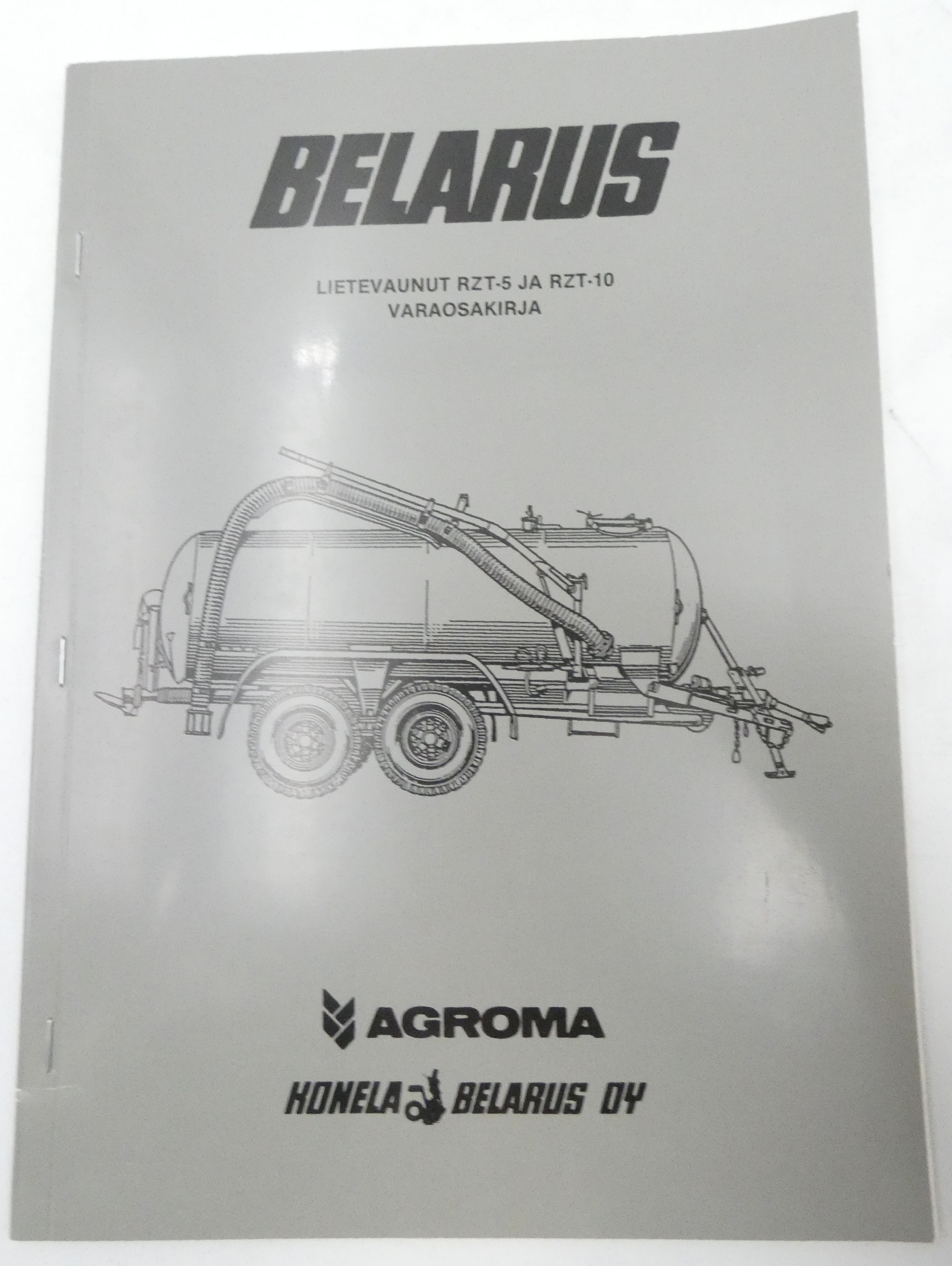 Belarus RZT-5 and RZT-10 liquid organic fertilizer distributor catalogue of parts and assembly units