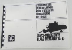 Claas-Mercator 75/75-R operator's manual