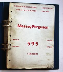 MF 595 Tractor Parts Book