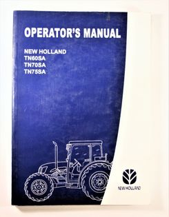 New Holland TN60SA TN70SA TN75SA Operators Manual