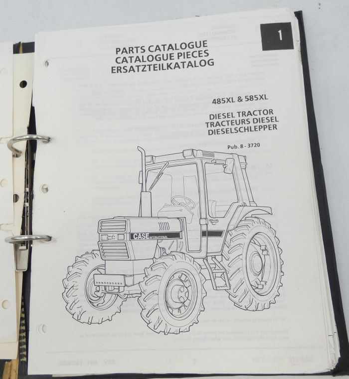 Case international 485XL & 585XL diesel tractor parts catalogue