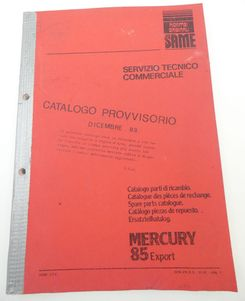 Same Mercury 85 Export spare parts catalogue