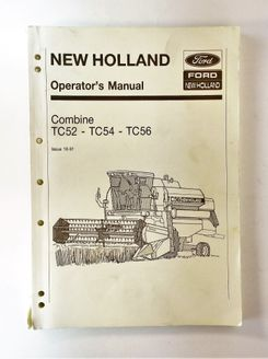 New Holland Combine TC52, TC54, TC56 Operator´s Manual