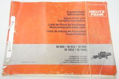 Deutz-Fahr M900, M922, M980, M1002, M1080 combine harvesters spare parts list