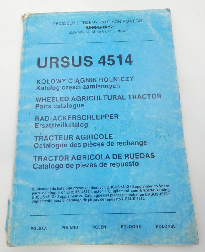 Ursus 4514 wheeled agricultural tractor parts catalogue