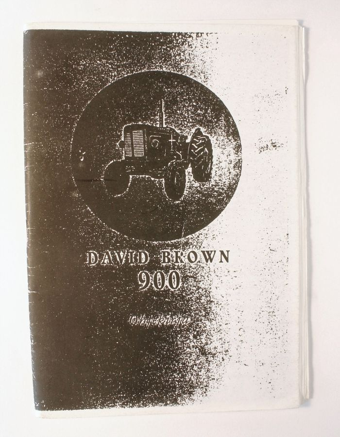 David Brown 900 Ohjekirja
