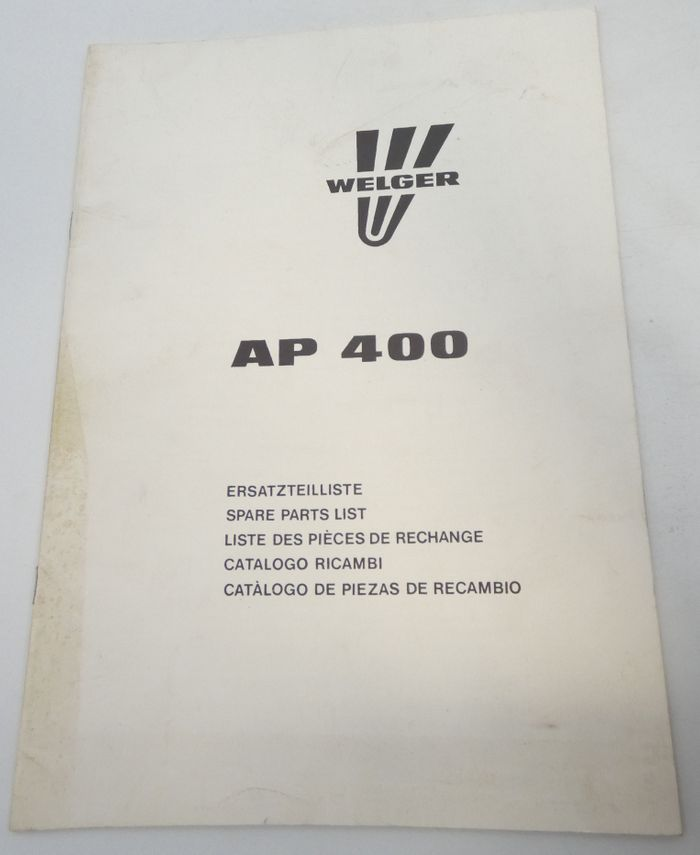 Welger AP 400 spare parts list